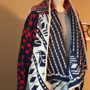 Tribal Red White & Blue Sweater